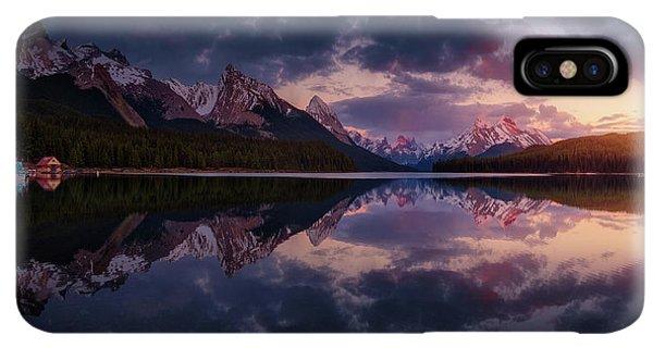 Rocky Mountain iPhone XS Max Case - Maligne Mountains by Juan Pablo De