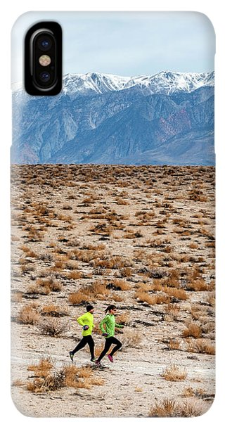 Knit Hat iPhone XS Max Case - Man And Woman  Trail Running by Rick Saez