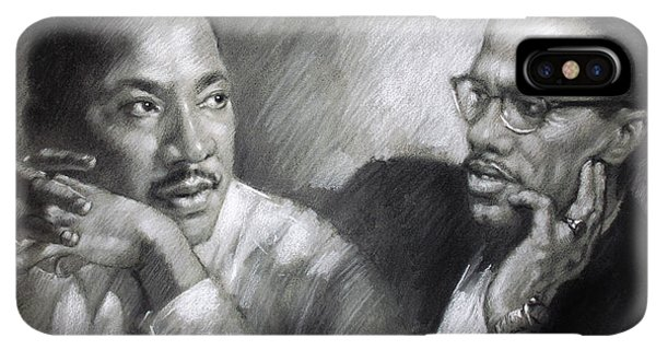 Africa iPhone XS Max Case - Martin Luther King Jr And Malcolm X by Ylli Haruni