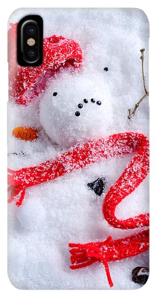 Knit Hat iPhone XS Max Case - Melted Snowman by Amanda Elwell