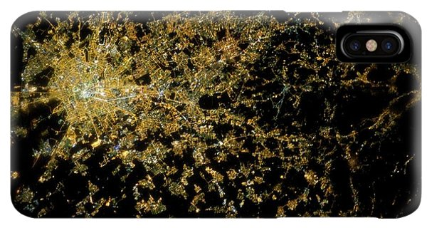 International Space Station iPhone XS Max Case - Milan At Night From Space by Nasa/science Photo Library