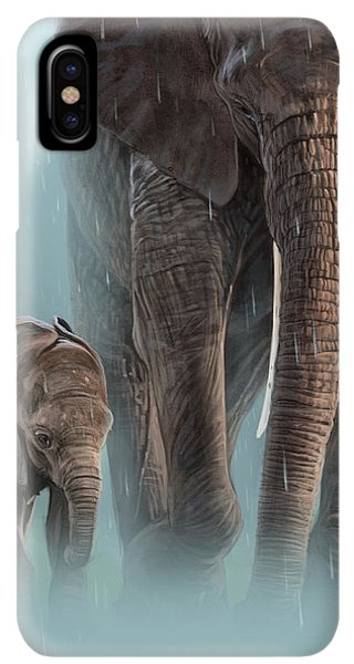 Africa iPhone XS Max Case - Mother And Child by Aaron Blaise