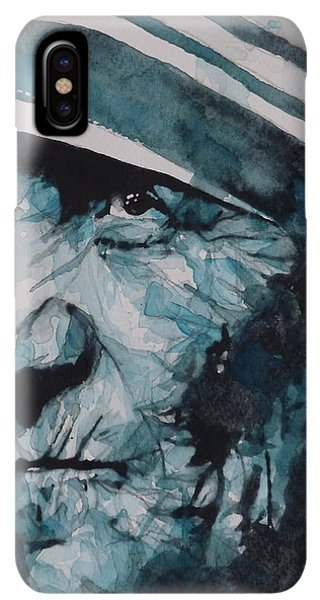 Prayer iPhone XS Max Case - Mother Teresa by Paul Lovering