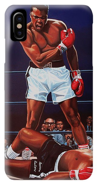 The iPhone XS Max Case - Muhammad Ali Versus Sonny Liston by Paul Meijering