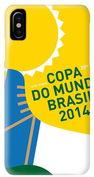 South America iPhone XS Max Case - My 2014 World Cup Soccer Brazil - Rio Minimal Poster by Chungkong Art