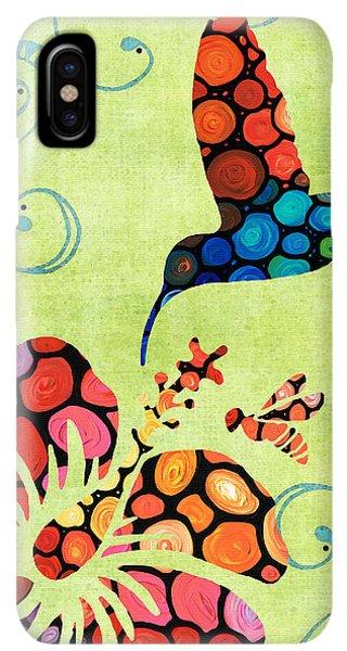 Humming Bird iPhone XS Max Case - Nature's Harmony 2 - Hummingbird Art By Sharon Cummings by Sharon Cummings