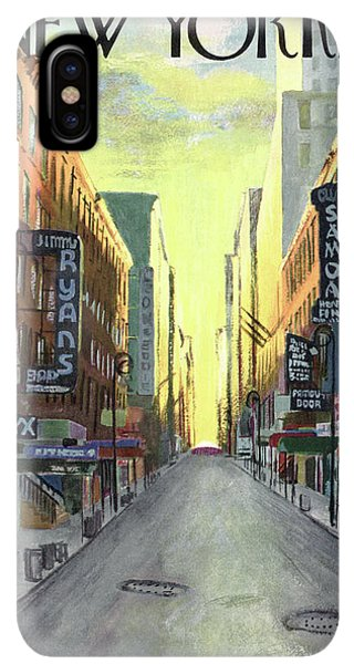 The Sun iPhone XS Max Case - New Yorker May 1st, 1948 by Arthur Getz