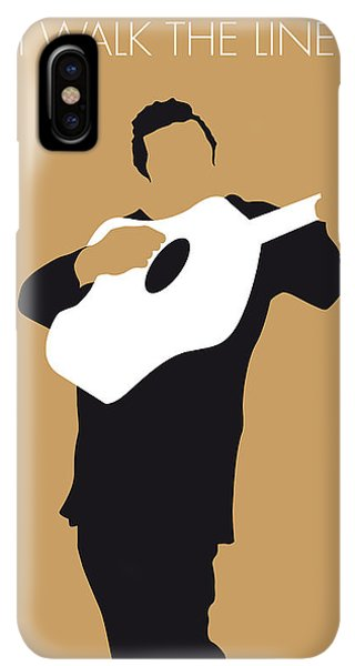 The iPhone XS Max Case - No010 My Johnny Cash Minimal Music Poster by Chungkong Art
