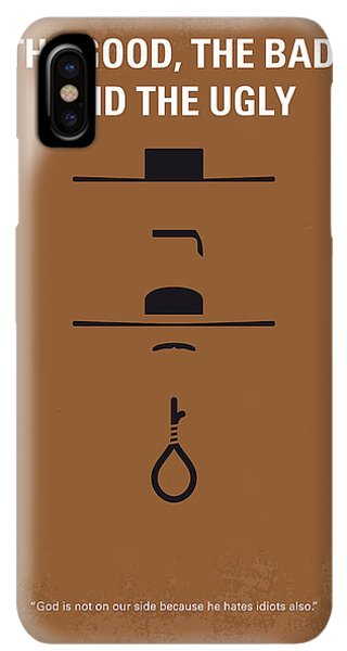 The iPhone XS Max Case - No090 My The Good The Bad The Ugly Minimal Movie Poster by Chungkong Art