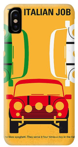 The iPhone XS Max Case - No279 My The Italian Job Minimal Movie Poster by Chungkong Art