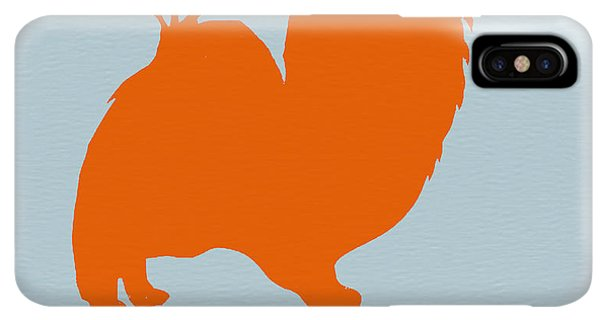 Puppies iPhone XS Max Case - Papillion Orange by Naxart Studio