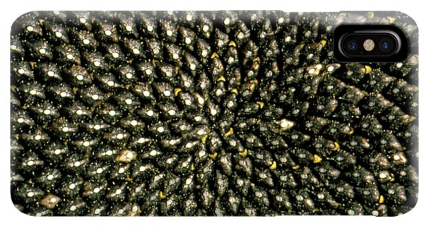 Sunflower Seeds iPhone XS Max Case - Pattern Of Seedhead Of Sunflower by George Bernard/science Photo Library