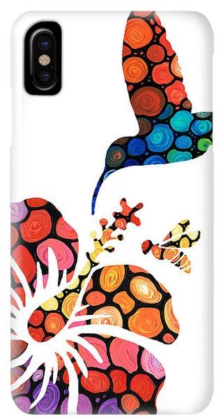 Humming Bird iPhone XS Max Case - Perfect Harmony - Nature's Sharing Art by Sharon Cummings
