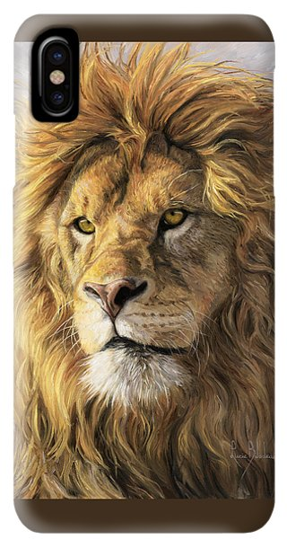 Africa iPhone XS Max Case - Portrait Of A Lion by Lucie Bilodeau