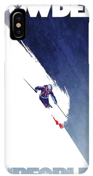 Rocky Mountain iPhone XS Max Case - Powder To The People by Sassan Filsoof