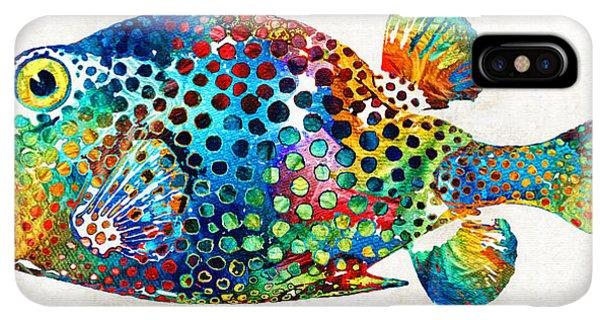 Scuba Diving iPhone XS Max Case - Puffer Fish Art - Puff Love - By Sharon Cummings by Sharon Cummings