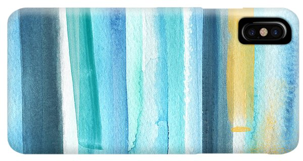 iPhone XS Max Case - Summer Surf- Abstract Painting by Linda Woods
