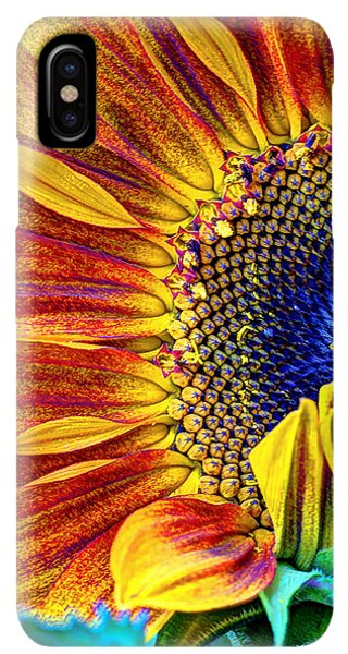 Sunflower Seeds iPhone XS Max Case - Sunflower Abstract by Heidi Smith