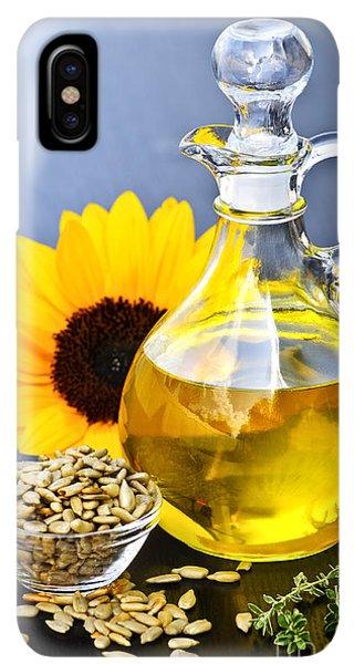 Sunflower Seeds iPhone XS Max Case - Sunflower Oil Bottle by Elena Elisseeva