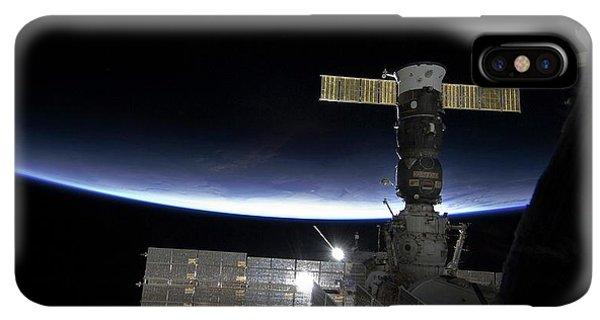 International Space Station iPhone XS Max Case - Sunrise Over The Iss by Nasa/science Photo Library