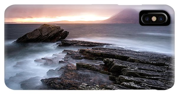 Scotland iPhone XS Max Case - Sunset At Elgol Beach by Nicoleta Nussthaler