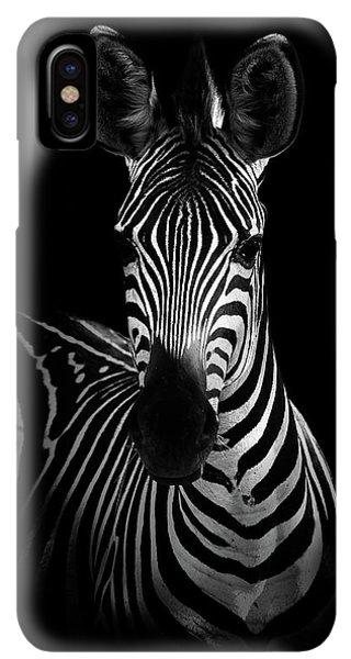 Africa iPhone XS Max Case - The Zebra by Wildphotoart