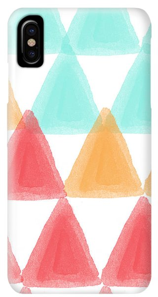 Abstract iPhone XS Max Case - Trifold- Colorful Abstract Pattern Painting by Linda Woods
