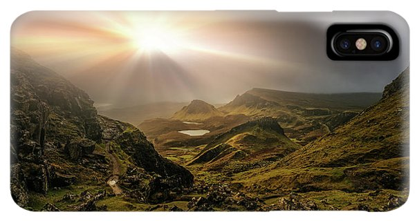 Scotland iPhone XS Max Case - Trotternish Ridge Light #3 by Matt Anderson