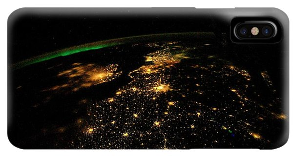 International Space Station iPhone XS Max Case - Uk And Europe At Night From Space by Nasa/science Photo Library