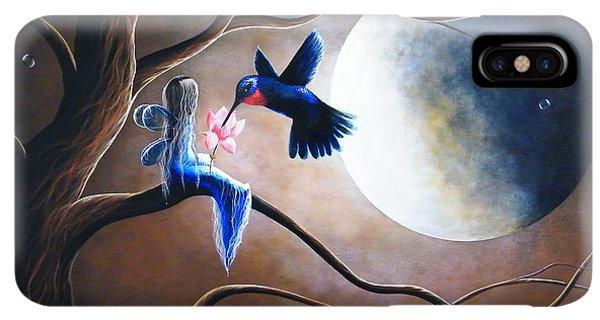 Humming Bird iPhone XS Max Case - What Love Looks Like By Shawna Erback by Erback Art