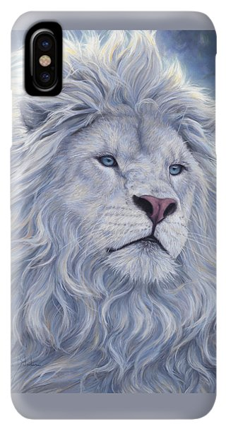 Africa iPhone XS Max Case - White Lion by Lucie Bilodeau