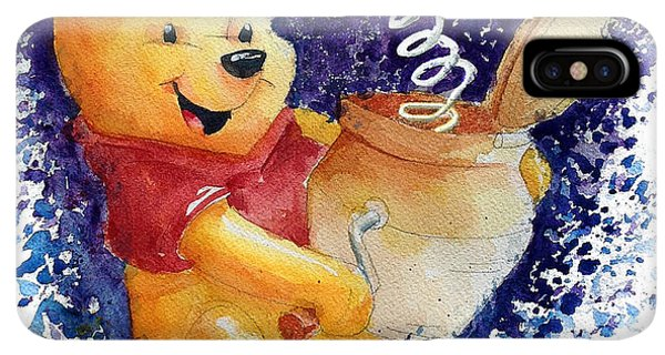 The iPhone XS Max Case - Winnie The Pooh And Honey Pot by Andrew Fling