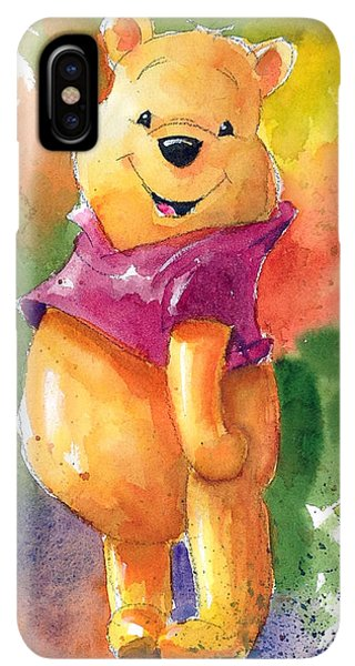 The iPhone XS Max Case - Winnie The Pooh by Andrew Fling