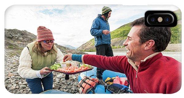 Knit Hat iPhone XS Max Case - Woman Serving Appetizers, Alsek River by Josh Miller