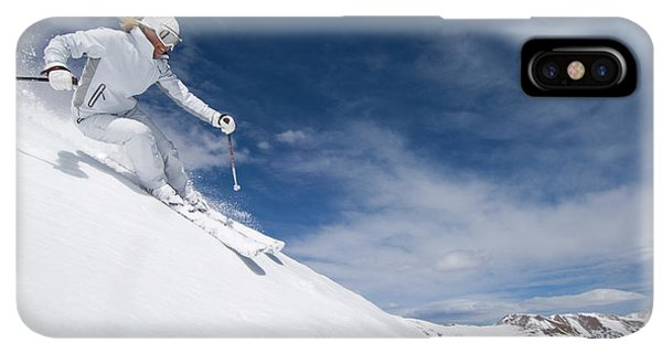 Knit Hat iPhone XS Max Case - Woman Skiing At Loveland, Colorado by Scott Markewitz