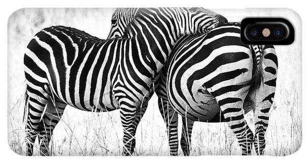 Africa iPhone XS Max Case - Zebra Love by Adam Romanowicz