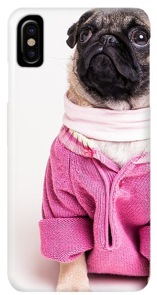 Pug iPhone XS Max Case - Pretty In Pink by Edward Fielding