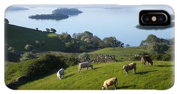 St. Patricks Day iPhone XS Max Case - Sheep Grazing By Lough Corrib Cong by Peter Zoeller