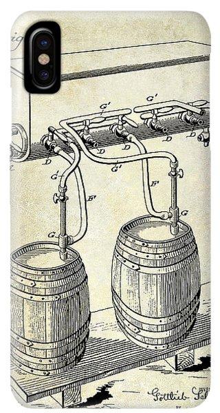 St. Patricks Day iPhone XS Max Case - 1900 Beer Keg System Patent by Jon Neidert