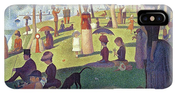 The Sun iPhone XS Max Case - Sunday Afternoon On The Island Of La Grande Jatte by Georges Pierre Seurat