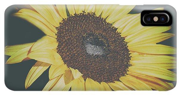 Sunflower Seeds iPhone XS Max Case - Sunflower by Martin Newman