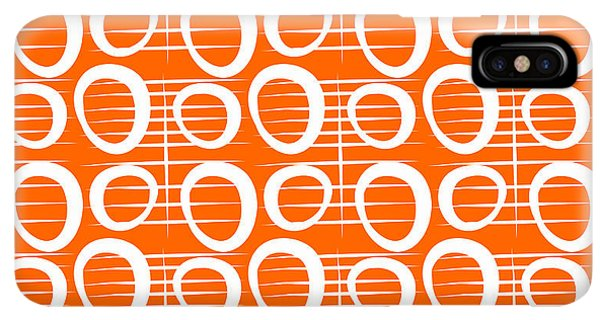 Abstract iPhone XS Max Case - Tangerine Loop by Linda Woods