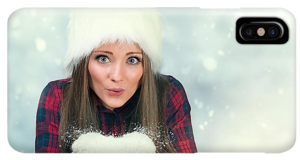 Knit Hat iPhone XS Max Case - Winter Wonderland by Amanda Elwell