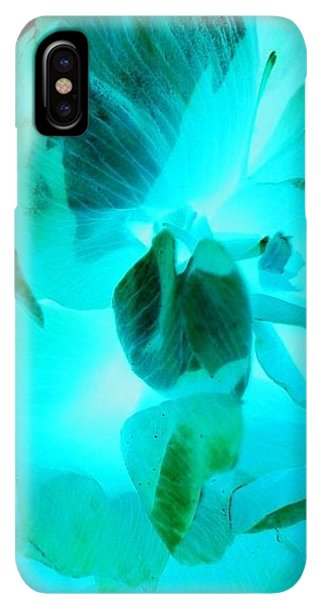iPhone XS Max Case - A Bloom In Turquoise by Orphelia Aristal