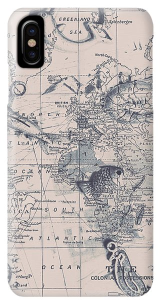 Navigation iPhone XS Max Case - A Fishermans Map by Jorgo Photography - Wall Art Gallery