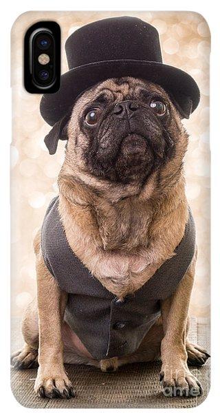 Pug iPhone XS Max Case - A Star Is Born - Dog Groom by Edward Fielding