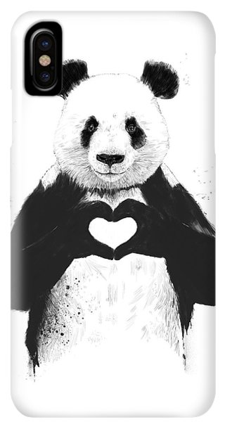 iPhone XS Max Case - All You Need Is Love by Balazs Solti