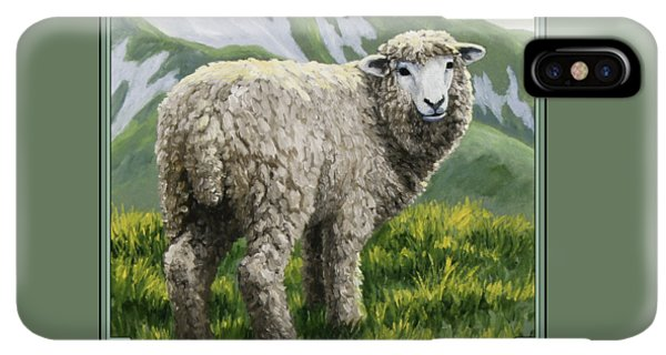 St. Patricks Day iPhone XS Max Case - Highland Ewe by Crista Forest