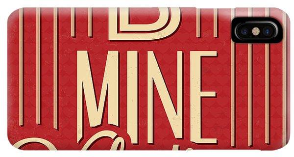 Achievement iPhone XS Max Case - B Mine Valentine by Naxart Studio
