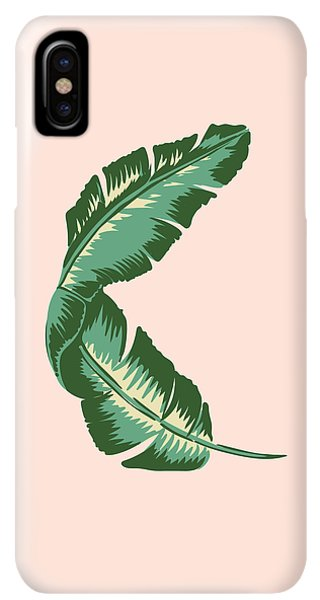 South America iPhone XS Max Case - Banana Leaf Square Print by Lauren Amelia Hughes